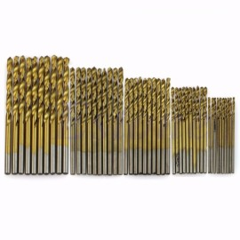 13pcs 1/1.5/2/2.5/3mm HSS Titanium Coated High Speed Steel Drill Bits Set Brown