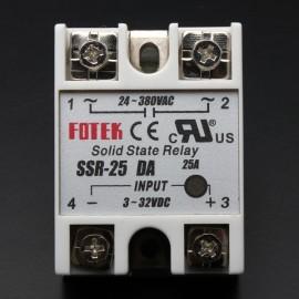 FOTEK SSR-25DA Solid State Relay 3-32V DC 25A/250V Output 24-380V AC