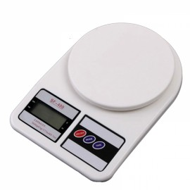Mini Electronic Kitchen Scale with Strain-gauge Sensor 5000g/1g White