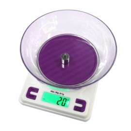 K001A 5kg/1g Precision Kitchen Baking Herb Food Scale White