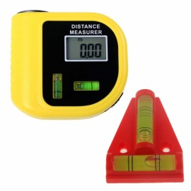 CPTCAM CP-3010 Mini Ultrasonic Distance Measurer Range Finder Yellow & Red