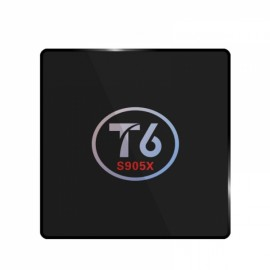 T6 Amlogic S905X Quad Core 2GB RAM 16GB ROM TV Box UK Plug Black