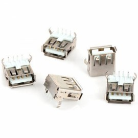 20pcs USB Type-A Female 90-Degree 4pin PCB Mount Socket Connector