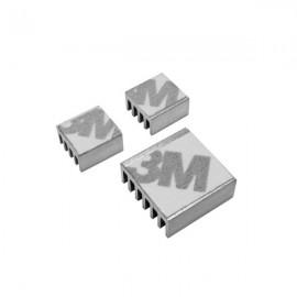 3pcs Heatsink Heat Dissipation Panels for Raspberry Pi Silver