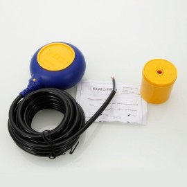 5m 250-380V Round-shaped Float Liquid Level Power Switch Yellow & Blue