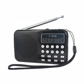 LCD Digita Stereo FM Radio Speaker USB TF Card MP3 Music Player Red
