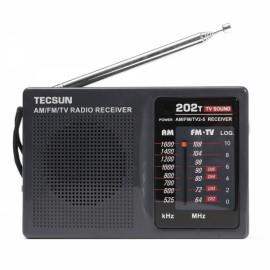 Tecsun Mini Portable Radio World Band Receiver Black