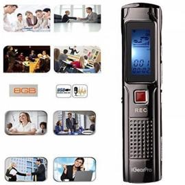 HD 8GB Digital Voice Recorder Black