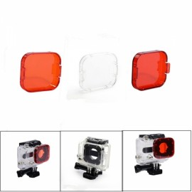 JUSTONE J028-5 3-in-1 Professional Underwater Diving Filter Pack for GoPro Hero 3 Red & Orange & White