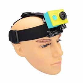 KingMa Adjustable Headband Helmet Belt for Gopro Hero 3+ / 4 Xiaomi Yi Action Camera Black