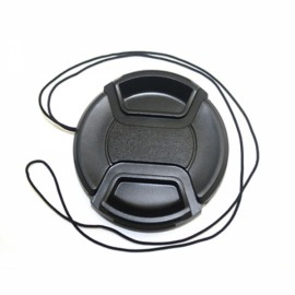 58mm Center Pinch Snap on Front Cap for Lens Filter