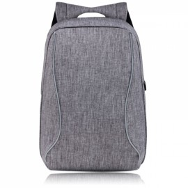 High Capacity Practical Backpack Computer Bag with External USB Charging Interface Gray
