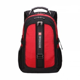Durable Oxford High Capacity Backpack with External Headphone Jack Red