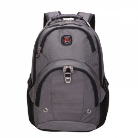 High Capacity Practical Backpack with External Headphone Jack Gray