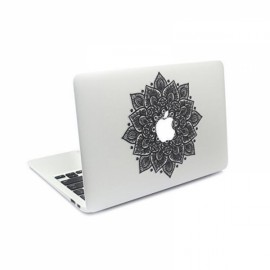 """Arabic Mandala Leaves Removable Vinyl MacBook Decal Sticker Skin with Precision-Cut for Apple MacBook 2016 Pro 15"""""""