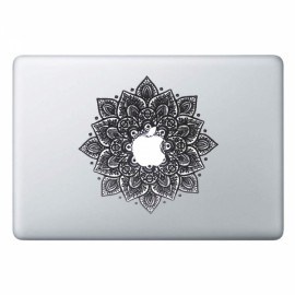 Arabic Mandala Leaves Removable Vinyl MacBook Decal Sticker Skin with Precision-Cut for Apple MacBook Air 13.3""