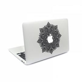 "Arabic Mandala Leaves Removable Vinyl MacBook Decal Sticker Skin with Precision-Cut for Apple MacBook Retina 12"""