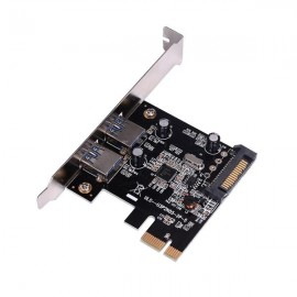 2-Port USB SuperSpeed USB 3.0 PCI-E PCI Expansion Card