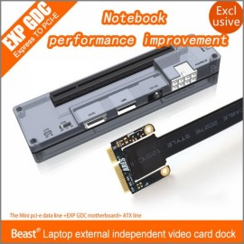 EXP GDC Laptop External Independent Video Card Dock with Mini PCI-E Interface Black