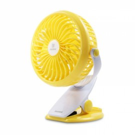 Remax F2 Clip on Rechargeable 360-Degree Rotation 4 Blades USB Desk Fan Yellow