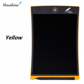 """Howshow 8.5"""" E-Note Paperless LCD Writing Tablet Office Family School Drawing Graffiti Toy Gift Yellow"""