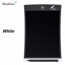 """Howshow 8.5"""" E-Note Paperless LCD Writing Tablet Office Family School Drawing Graffiti Toy Gift White"""