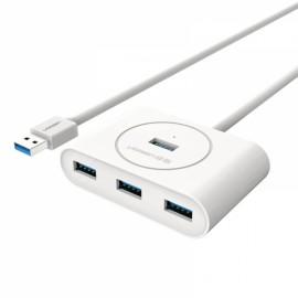1M Ugreen 4 Ports Super Speed USB 3.0 HUB White