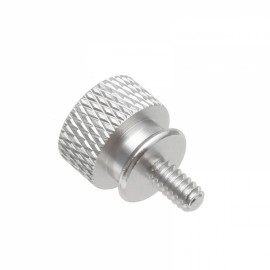 10pcs Flange Chassis Computer Case Hand Screw Cap Aluminum Alloy US Standard 6# -32 Silver