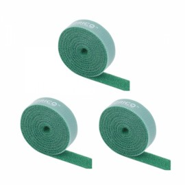 ORICO CBT-1S Reusable Velcro Cable Ties Wire Management Bands Binging Strap Seals with Label Green *3