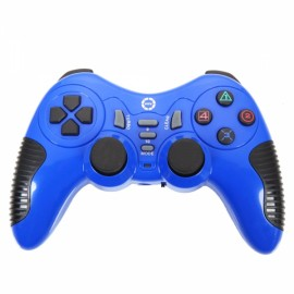 CX506 Plastic Wireless USB Computer Game Controller for PC Blue