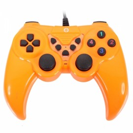 KD912 Plastic Highly Sensitive USB Computer Game Controller for PC Orange