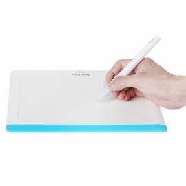 """Huion 680TF 8 x 6"""" 64G Micro SD Card Multifunctional Graphic Tablet with Rechargeable Pen Blue & White"""