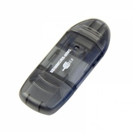 USB 2.0 SDHC SD MMC RS-MMC Memory Card Reader Gray