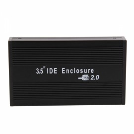 "3.5"" USB 2.0 IDE HDD Hard Disk Drive Enclosure External Case Black"