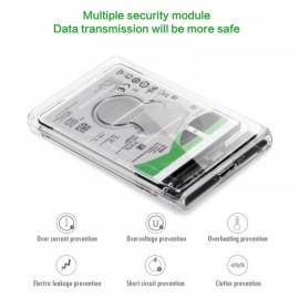 "2.5"" USB 3.0 SATA Hd Box HDD Hard Disk Drive External HDD Enclosure Transparent Case Tool Free 5 Gbps Support 2TB UASP Protocol"