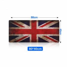 80cm x 40cm Ultra Large Anti-Flip Rubber Soft Textile Union Jack Pattern Mouse Pad
