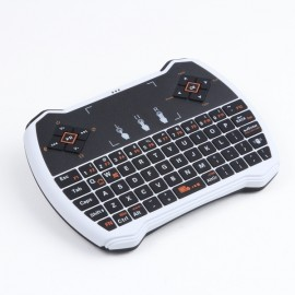 V6A 2.4GHz Air Fly Mouse Wireless Keyboard with Touchpad Control White