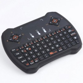 V6A 2.4GHz Air Fly Mouse Wireless Keyboard with Touchpad Control Black
