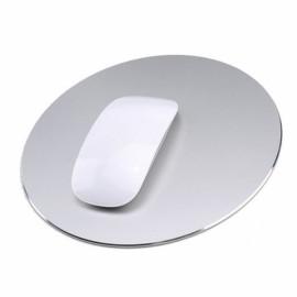 220 x 220mm Aluminum Metal Anti Slip PC Computer Laptop Gaming Mouse Pad Silver