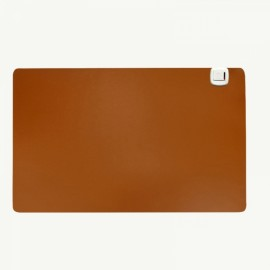 Electric Heating Pad Warm Mat for Computer Desk Office Table 60x36cm Brown