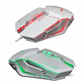 ZERODATE X700 Mechanical Mouse Game Mouse Wired Optical 1600DPI/3200DPI Computer Gaming Mouse White