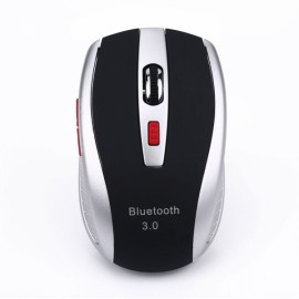 A902 Cool Dual Colors Wireless Bluetooth Mouse Black & Silver