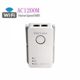 Mini Portable 1200M Dual-Band Wireless Router EU Plug White