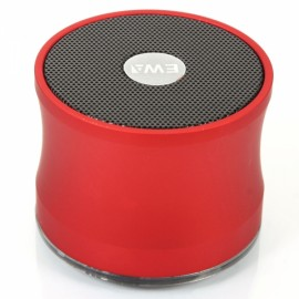 A109 Fashionable Wireless Bluetooth Speaker with TF Card Slot Red