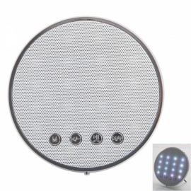 Adasem JY-26A Smart Wireless Bluetooth Speaker with Dazzling Color White