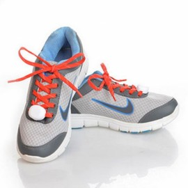 2pcs Nylon LED Shoelaces Flat Luminous Shoelace for Sneakers Red