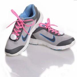 2pcs Nylon LED Shoelaces Flat Luminous Shoelace for Sneakers Pink