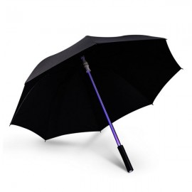 Fantastic LED Flashlight Night Protection Umbrella for Amusement Park Black
