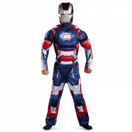 Children Halloween Costume Iron Man Muscle Cosplay Clothing Blue S