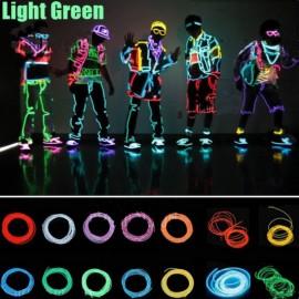 4M Neon EL Wire Light Flexible 3-Mode Party Dance Decor Light Green